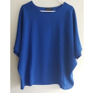 Lord and Taylor royal blue doloman sleeve blouse L